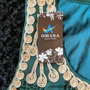 OMASA Tops - Ornate Sequined Tunic Dress Top